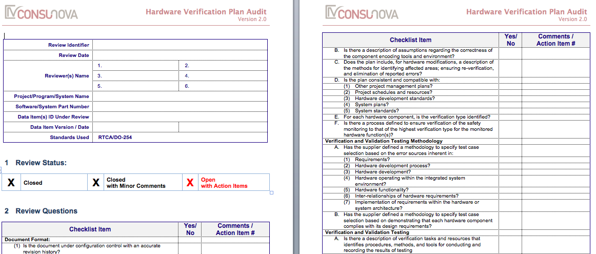 DO-254 PA Verification & Validation Plan Audi