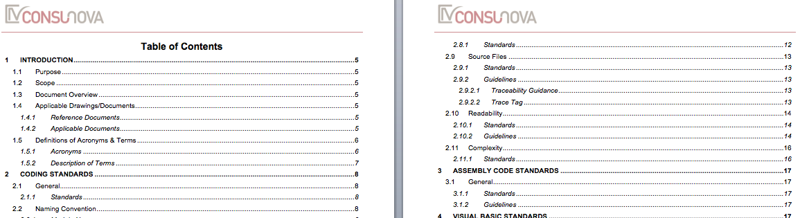 DO-178 Coding Standard Template